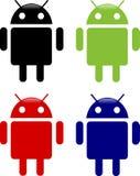 androidsymboler Arkivfoto