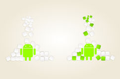 Androidu marshmallow Obraz Royalty Free