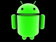 Androidu rozjarzony logo 3D ilustracji