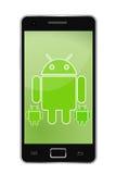 androidu telefon Obraz Stock