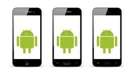 Androidu telefon komórkowy ilustracja wektor