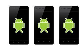 Androidu telefon komórkowy ilustracji