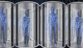 androidy składowi ilustracji