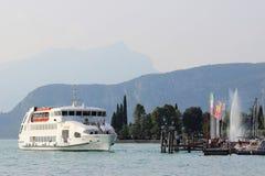 Andromeda arriving at Bardolino, Lake Garda Italy Royalty Free Stock Photography