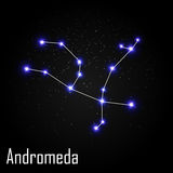 Andromeda Constellation with Beautiful Bright Star Royalty Free Stock Image