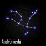 Andromeda Constellation com a estrela brilhante bonita Imagem de Stock Royalty Free