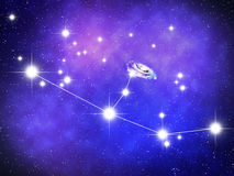 Andromeda. Constellation with  galaxy Stock Photo