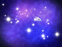 Andromeda. Constellation with  galaxy Royalty Free Stock Photography