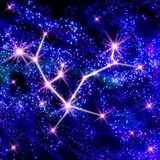 Andromeda constellation. In the star sky Royalty Free Stock Photography