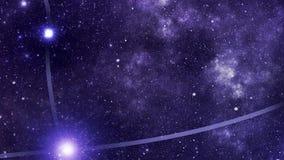 Andromeda della costellazione (e) stock footage