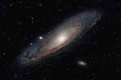 Andromeda-Galaxie Stockfotos