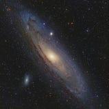 Andromeda Galaxy i Andromeda Arkivfoto