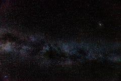 Andromeda Galaxy & Milky Way. The Milky Way, accompanied by M51 Andromeda Galaxy royalty free stock photo