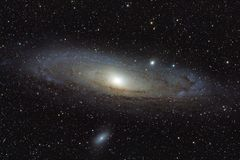 Andromeda galaxy. My astrophotography trough SW 80 ED telescope Royalty Free Stock Image
