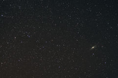 Andromeda galaxy. Nearest to us Royalty Free Stock Image