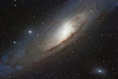 The Andromeda Galaxy, spiral galaxy in the constellation of Andromeda Messier 31 M31 royalty free stock photos