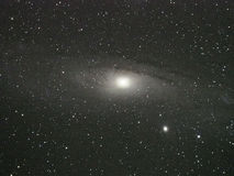 Andromeda galaxy and Universe stars night sky Stock Photo