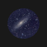 Andromeda nebula space telescope Royalty Free Stock Photography