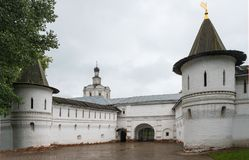 Andronikov monastery, Moscow. Russia. Architectural monument of the 15th century royalty free stock photo