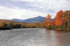 Androscoggin river in autumn Royalty Free Stock Photo