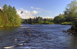 Androscoggin River in Dummer, New Hampshire USA Stock Photo