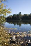 Androscoggin River in Fall. A fall day on the Androscoggin river Stock Images