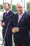 Andrzej Duda,波兰和1月Guz的总统的候选人 免版税库存图片