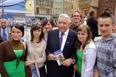 Andrzej Leper Polish former prime minister in Ryne Royalty Free Stock Image