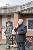 Andrzej Melak, deputy Polish Republic, National day of remembran. The ceremony dedicated to the soldiers cursed took place today also in Rembertów, at the Royalty Free Stock Image