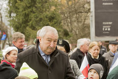 Andrzej Melak ställföreträdande Polish Republic, nationell dag av remembranen Arkivfoton