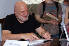 Andrzej Mleczko on the Fourth Book Fair in Warsaw Stock Image