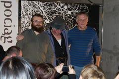 Andrzej Pilipiuk, Jakub Wedrowycz, Andrzej Åaski Στοκ Εικόνες