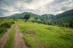 Andscape στα Καρπάθια βουνά Στοκ εικόνες με δικαίωμα ελεύθερης χρήσης