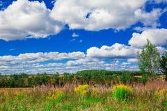 Andscape στο υπόβαθρο του μπλε ουρανού Στοκ Εικόνες