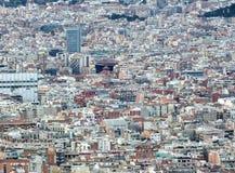 Andscape της παρουσίασης της Βαρκελώνης κατοικημένης και του εμπορικού κέντρου Στοκ φωτογραφία με δικαίωμα ελεύθερης χρήσης