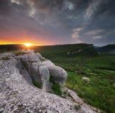 Andscape di panorama della natura della montagna Immagini Stock Libere da Diritti