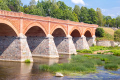 Andscape with old brick bridge Stock Images