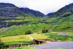 Andscapes και χωριά των ορεινών περιοχών, Σκωτία Στοκ φωτογραφία με δικαίωμα ελεύθερης χρήσης
