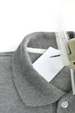 andTagging tryckspruta för etikett av torkduken Royaltyfri Fotografi
