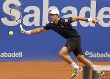 andujar帕布鲁棕色球员西班牙语网球 免版税库存照片