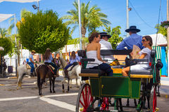 ANDUJAR, ESPANHA - setembro, 6: Participantes na feira do ho fotografia de stock royalty free