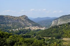 Anduze, French city of the Cevennes Royalty Free Stock Photo