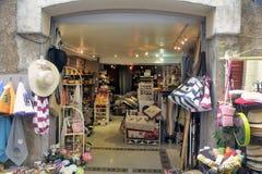Anduze shoppar av hemslöjder Royaltyfri Fotografi