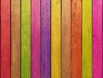 Andy color wooden wall Stock Photography