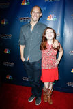 Andy Cook, Abigail Baird. NEW YORK-JUL 30: Andy Cook and Abigail Baird of Aerial Animation attend the 'America's Got Talent' post show red carpet at Radio City Royalty Free Stock Image