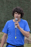 Andy Day presenting live wildlife show Royalty Free Stock Photography