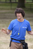 Andy Day presenting live wildlife show Stock Photos
