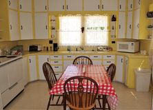 Andy Griffith Childhood Home. The kitchen of Andy Griffith`s childhood home in Mt. Airy, North Carolina.  The home is available for rent on a nightly basis Stock Photography