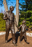 Andy Griffith and Opie Statue. A statue of Andy and Opie in Mount Airy North Carolina Stock Image