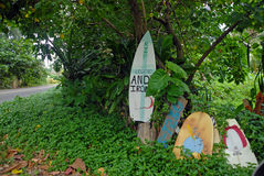 Andy Irons Memorial in Kauai, Hawaii Stock Photo